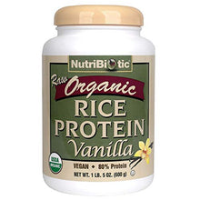 Nutribiotic - Organic Vegan Rice Protein Vanilla Powder - 1 lbs. 5 oz.