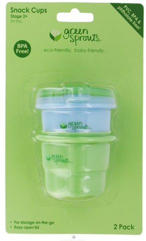 Green Sprouts Snack Cup Stage 2+ Cornfloor 2 Ct
