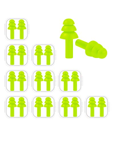 Noise for 10 Pairs Noise Cancelling Ear Plugs Reusable Premium Soft Silicone