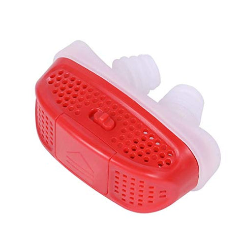 Sleep aid Portable Device Sleeper Protector Anti-snoring Mini Stop ABS Breathing Relief Nose Clip Electric (Color : Red)