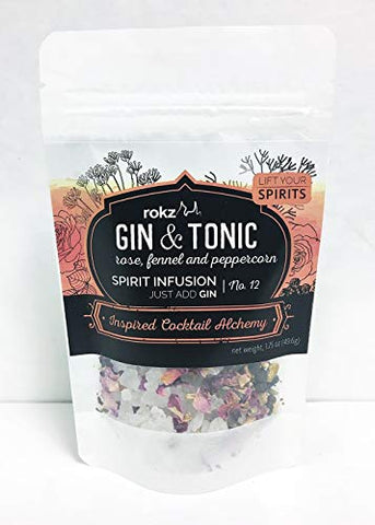 Rokz Gin and Tonic Spirit Infusion Blend for Cocktails