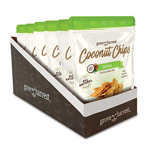 Grove Harvest Toasted Coconut Chips, 3.5 oz bags, 6 Count: