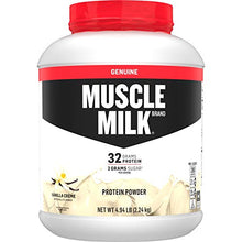 Muscle Milk Genuine Protein Powder, Vanilla Creme, 32g Protein, 4.94 Pound, 32 Servings