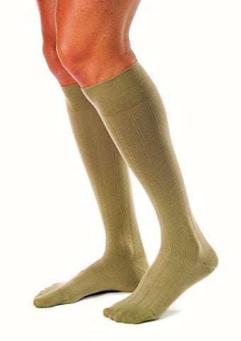 JOBST forMen Casual 20-30 mmHg Knee High Compression Socks, Khaki, Medium