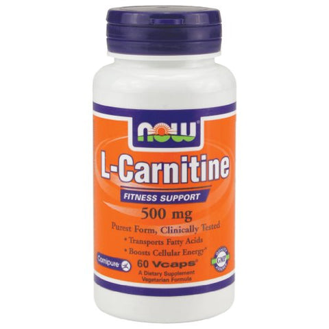 Now Foods L-Carnitine 500 mg - 60 VCaps 4 Pack