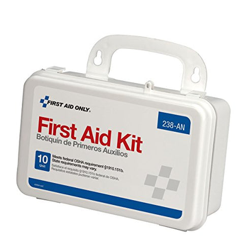 First Aid Only Unitized First Aid Kit with Plastic Case Ansi, White