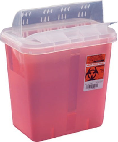 Units Per Case 10 Sharps - Sharpes Container 3gal Red Inroom Units Per Case 10 KENDALL HEALTHCARE PROD. 85221R by Kendall/Covidien