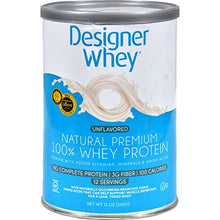 Designer Whey Natural Protein Powder, 12.7 Ounce - 3 per case.