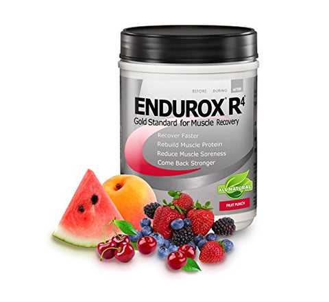 PacificHealth Endurox R4, All Natural Post Workout Recovery Drink Mix with Protein, Carbs, Electrolytes and Antioxidants for Superior Muscle Recovery, Net Wt. 2.29 lb, 14 Serving (Fruit Punch)