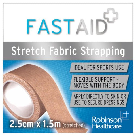 Fastaid Zinc Stretch Fabric Strapping 2.5cm X 1.5m [Health and Beauty]