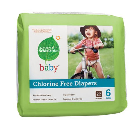 Seventh Generation Baby Diapers - Case of 4