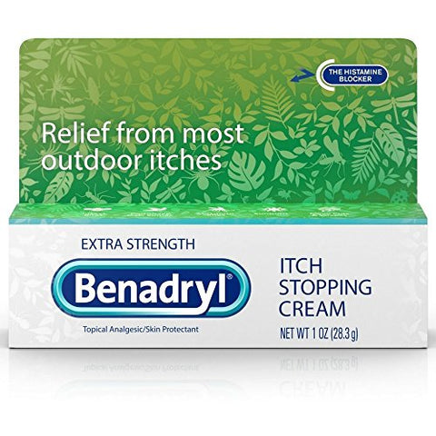 Benadryl Itch Stopping Cream Extra Strength 1 oz (Pack of 4)