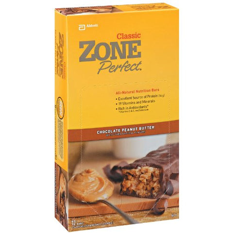 ZonePerfect Classic Protein Bars, Chocolate Peanut Butter, 36 Count