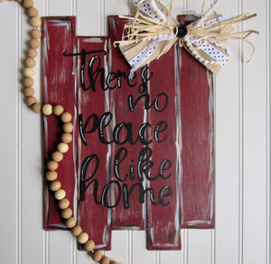 "Faux Pallet Board ""There Is No Place Like Home"""