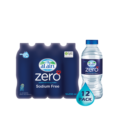 Al Ain Zero Sodium Water (330 ml x 12)
