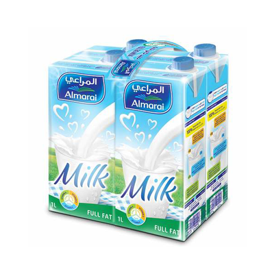 Almarai Long Life Milk Full Fat (4 x 1l)