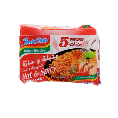Indomie Instant Noodles Hot & Spicy (5 x 80gr)