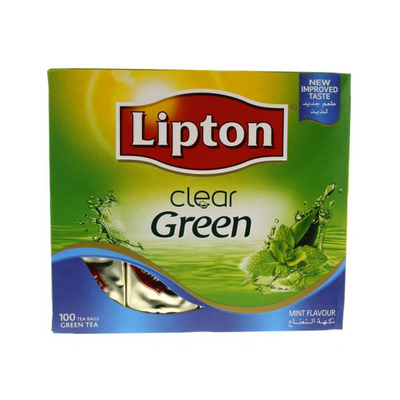 Lipton Mint Green Tea Bags (100 x 2gr)