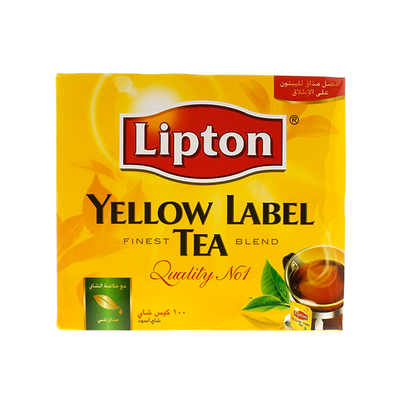 Lipton Yellow Label Black Tea Bahs (100 x2gr)