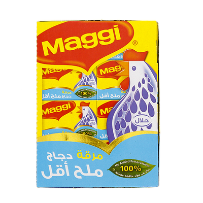 Maggi Chicken Less Salt Stock Bouillon Cube 24 X 20 Gm