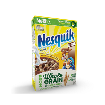 Nestle Nesquik Duo Breakfast Cereal 335 Gm