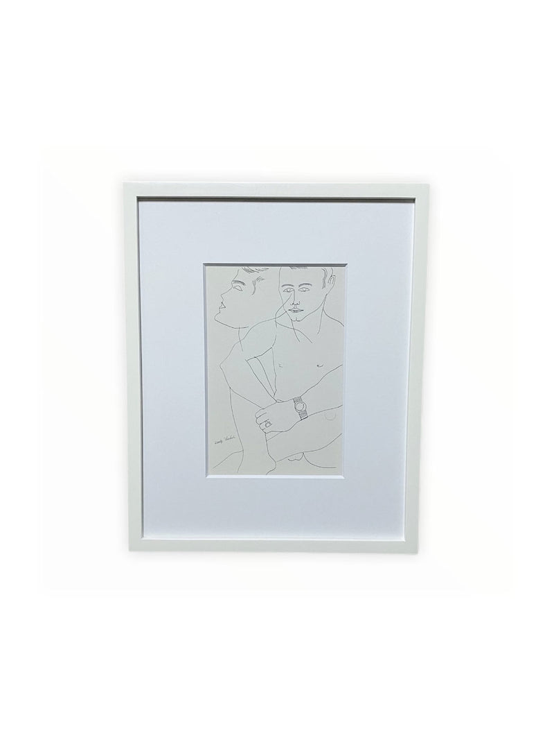 ANDY WARHOL INVITATION CARD FRAMED(SOLD OUT)