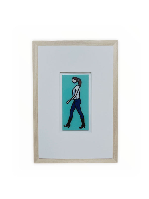 JULIAN OPIE INVITATION CARD FRAMED