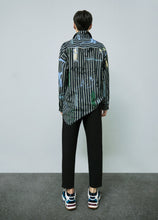 Load image into Gallery viewer, Striped graffiti shirt