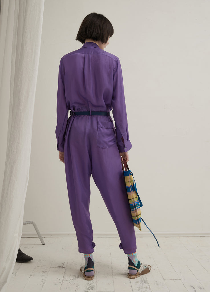 Solid Color Jumpsuit