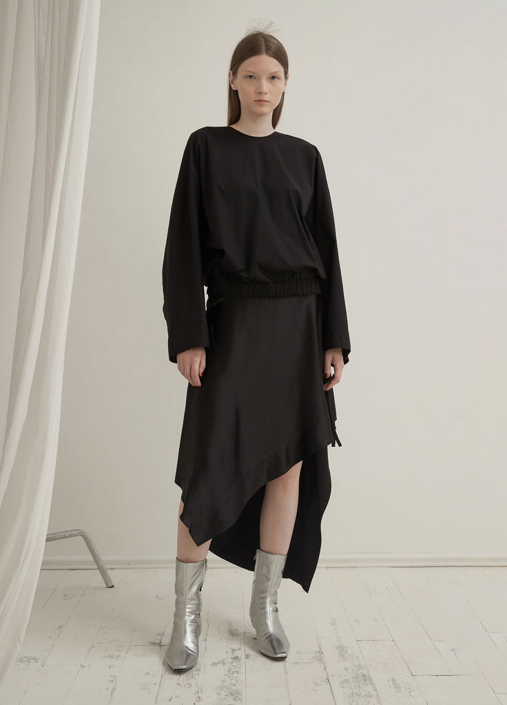 Asymmetrical Silk Skirt