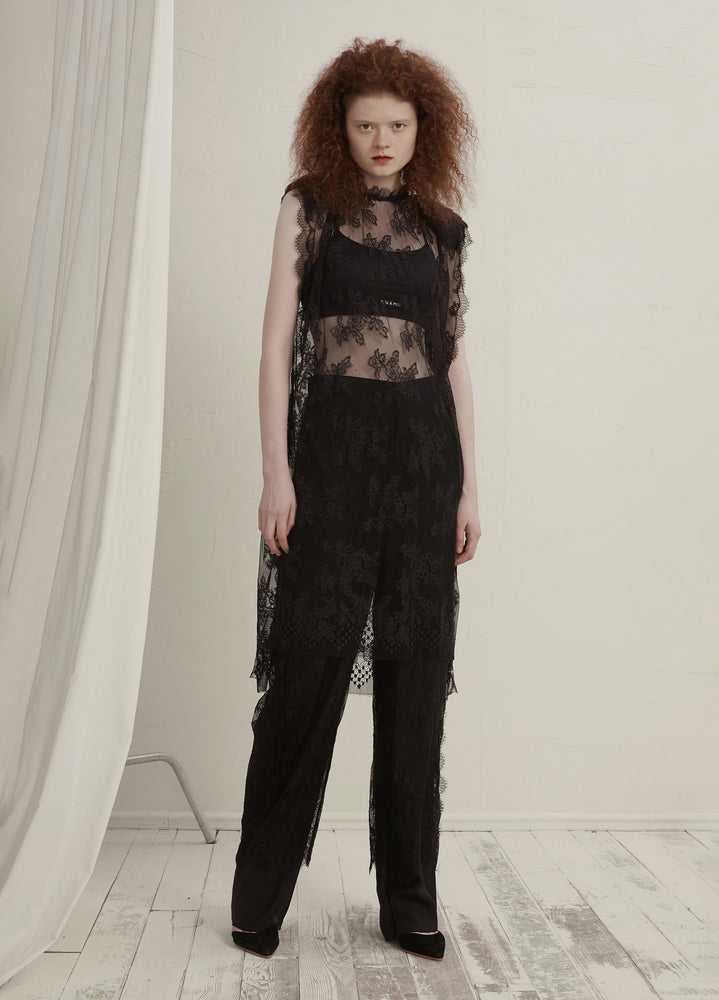Lace casual pants