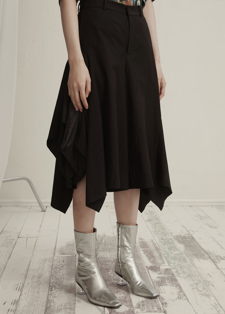 Asymmetric Cropped Pants