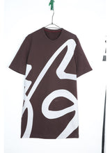 Load image into Gallery viewer, Calligraphy print dress