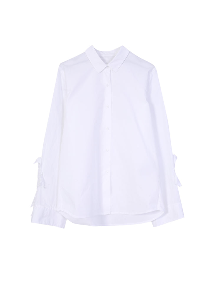 Long Sleeve Shirt With Ruffle Cuffs
