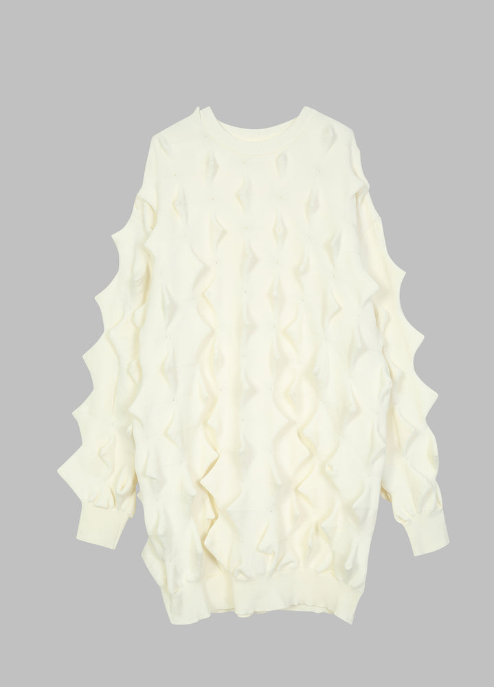 Hedgehog-like design long sweater