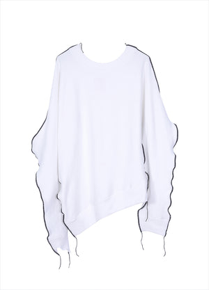 Load image into Gallery viewer, Pullover asymmetrical T-shirt