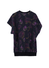 Load image into Gallery viewer, Round-neck Floral Pattern T-shirt