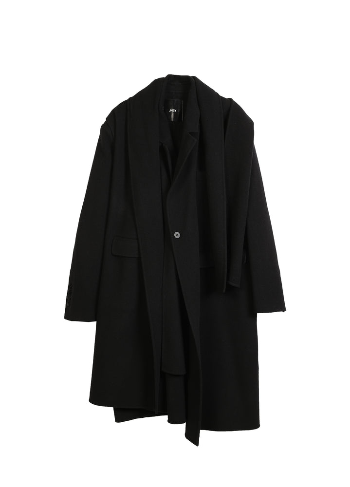 JNBY V-Neck Buttonless Wool Coat