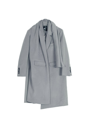 Load image into Gallery viewer, JNBY V-Neck Buttonless Wool Coat