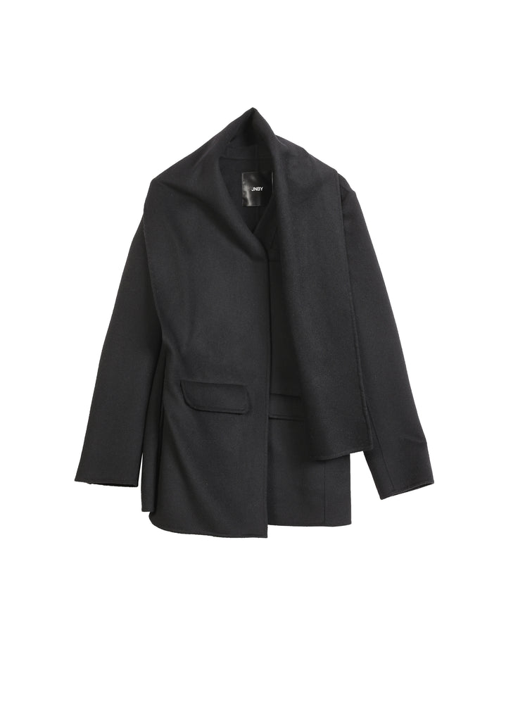 Hooded Cashmere Trench Coat