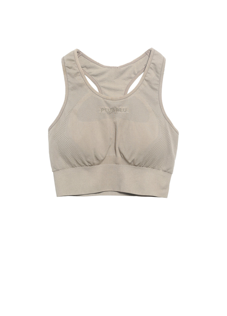 Texture change pattern sports bra