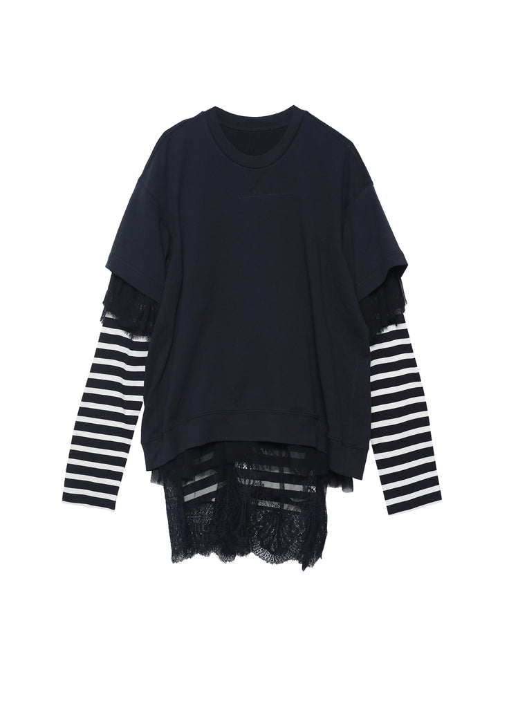 Patchwork style long sleeve T-shirt
