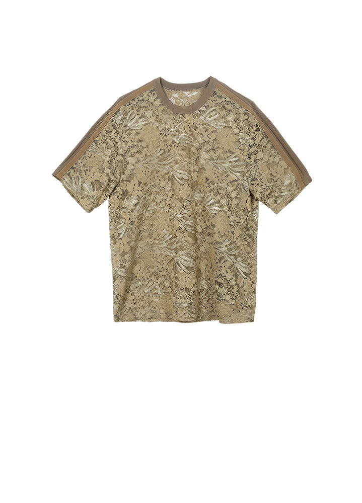 Load image into Gallery viewer, Exquisite and easy-to-wear lace short-sleeved T-shirt