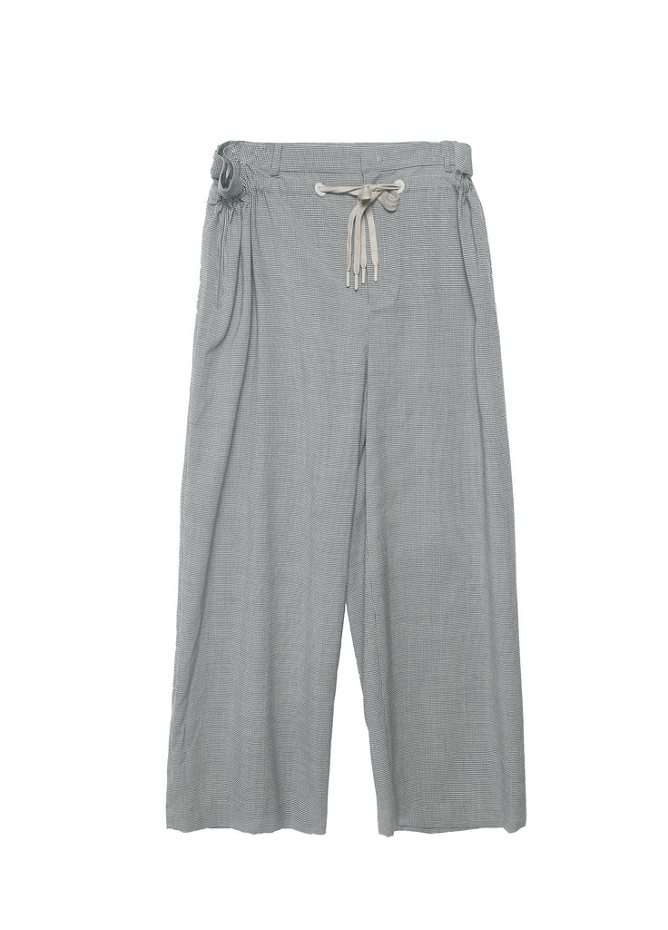 Wide-leg pants with drawstring waist