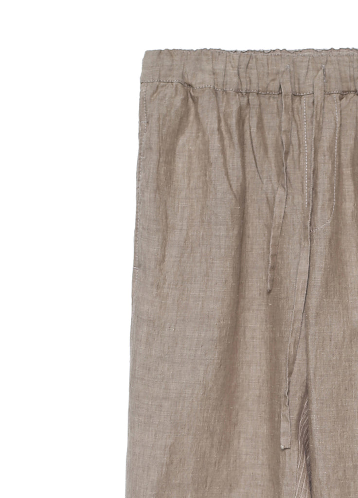 Linen pants with strings on waist