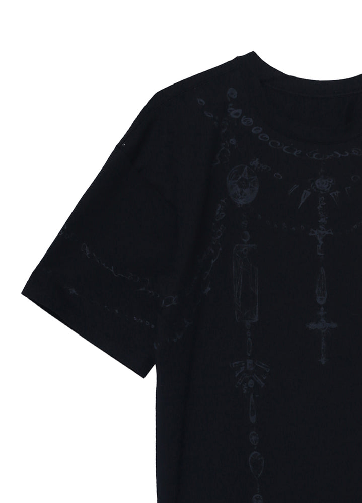 Load image into Gallery viewer, Short sleeve printed long T-shirt