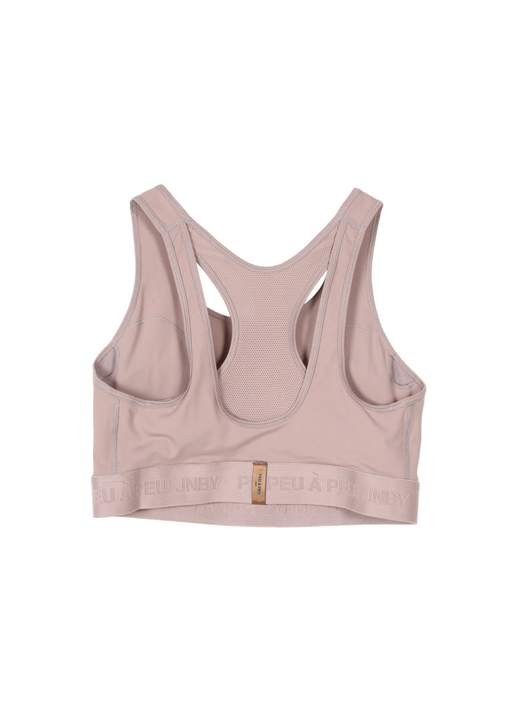 Two-tone stretch sports bra