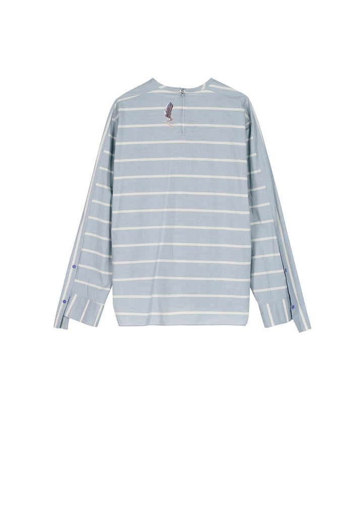 Load image into Gallery viewer, Long Sleeve Strip Pattern Shirt