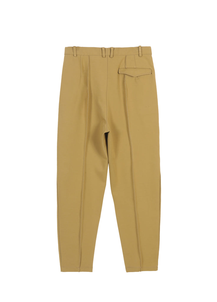 Cotton blend tapered pants