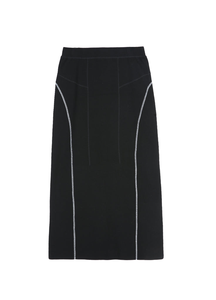 Long-waisted side detail skirt